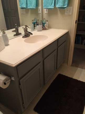 Matching bathroom vanity across the hall.