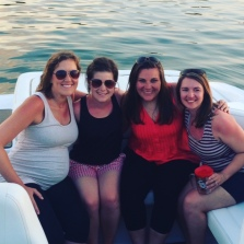 Table Rock Lake with my sweet high school friends!