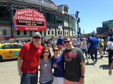 Chicago for Rangers/Cubs series