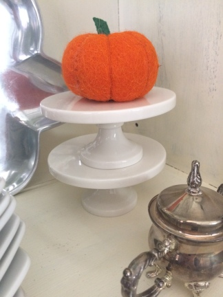 I just love my little, wool pumpkin from Southern Charm Cottage in Flower Mound, TX.