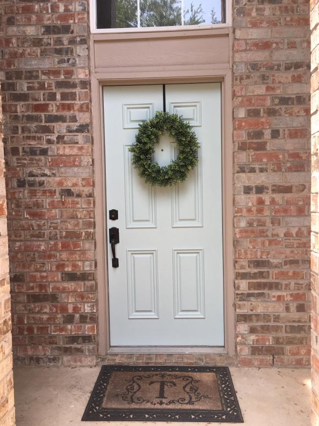 Wreath is from Hobby Lobby.